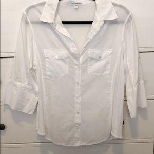White James Perse sheer button-down blouse - XL